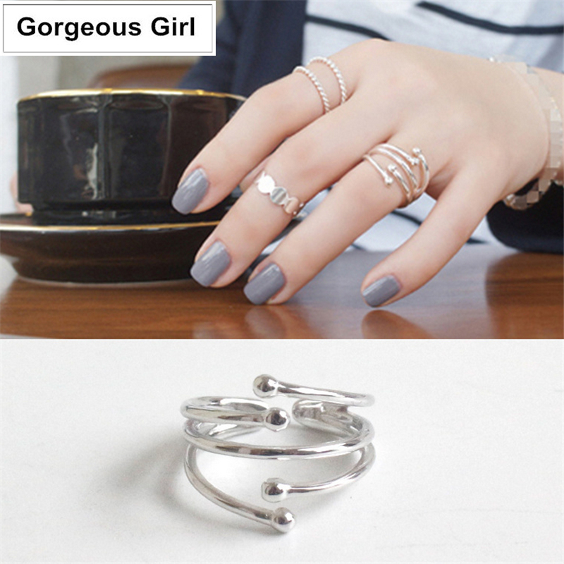 Celebrity 100% 925 Sterling Silver Jewelry Meteor Showers Open Rings for Women