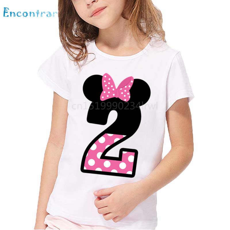 เด็ก Happy Birthday Letter พิมพ์ตลก T ชายเสื้อและเสื้อผ้าเด็กหมายเลข 1-9 วันเกิด, ooo2416
