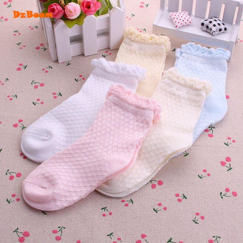 5 Pairs Lot Mesh Thin Girls Socks For Children Kids New
