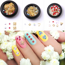 1 Box Nail Art Alloy Metal Star Moon Decorations Mixed 3D Nail Rhinestones Beads Shiny Glitter Charm Gem Manicure Accessories цены