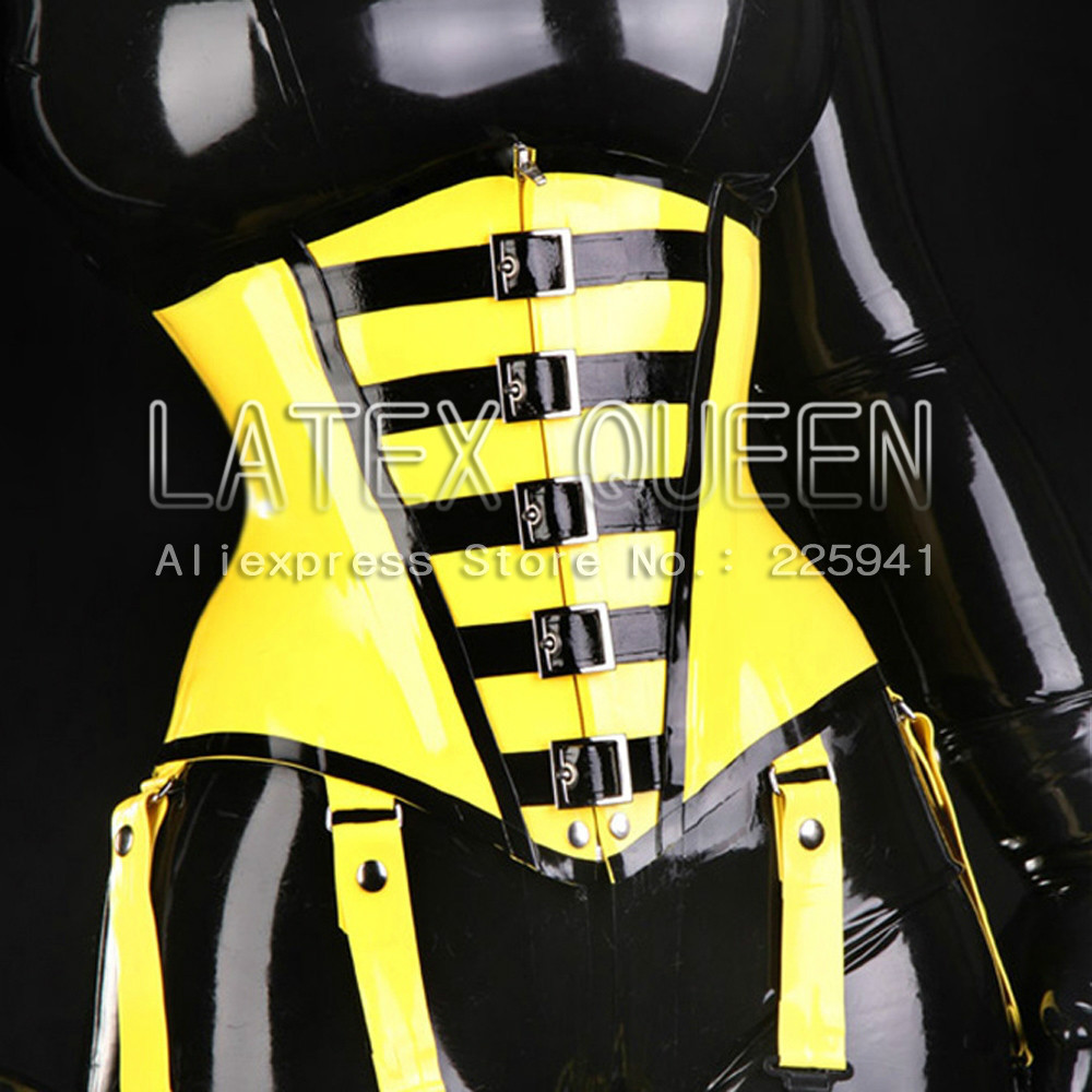 Attractive Adult's Latex Corset Rubber Cummerbunds