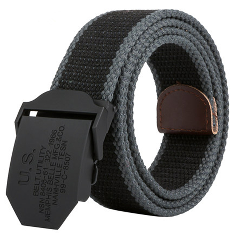 2017 Men Weave Canvas Unisex   belt   mens waist   belt   Casual Cargo   Belt   Military fans Automatic Buckle-  Belt   Male Field Tactical   Belt
