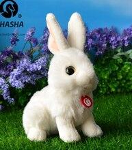 Rabbit Doll Cute Big Eyes font b Plush b font Rabbits Toys White Hare Simulation font