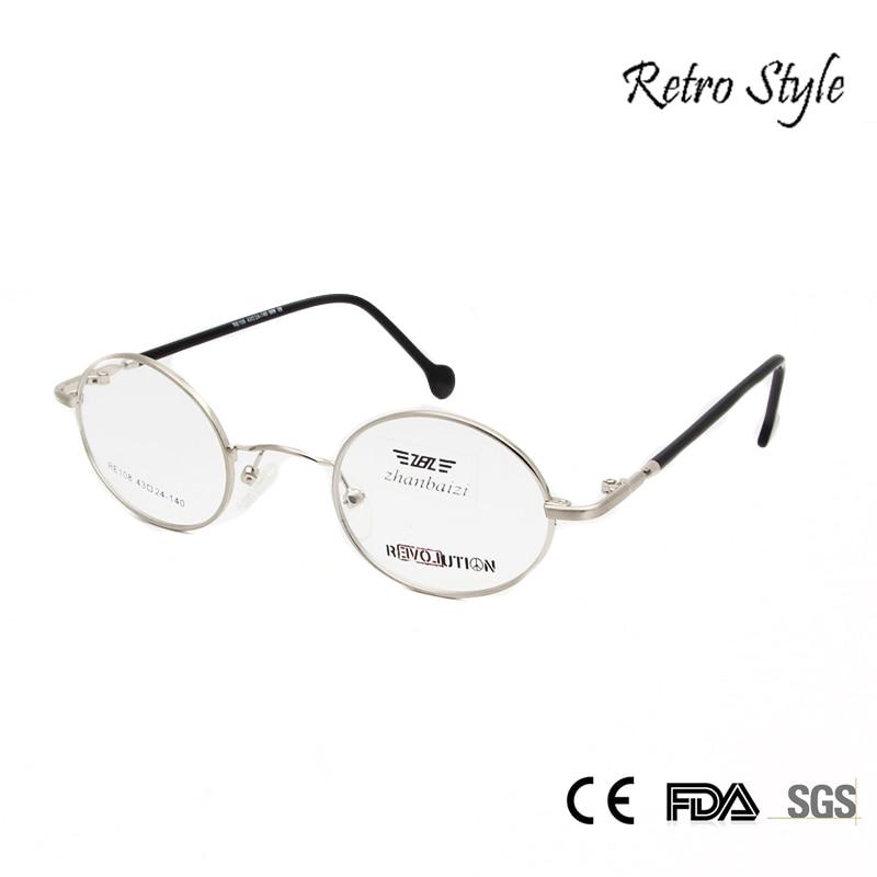 ZBZ kis kerek fémvázas szemüveg Férfi női rövidlátás Vintage szemüvegkeretek Arany ezüst teknős üveg Vision szemüveg