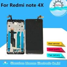 """5.5 """"מקורי לxiaomi Redmi הערה 4X הערה 4 הגלובלי גרסת Snapdragon 625 LCD תצוגה + מגע Digitizer מסגרת עבור Redmi הערה 4X"""