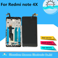 Original For 5.5 Xiaomi Redmi Note 4X Note 4 Global Version Snapdragon 625 LCD Display+Touch Digitizer Frame For Redmi Note 4X