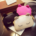 Atacado PU bolsa gato dos desenhos animados personalidade da moda saco de ombro ocasional saco Do Mensageiro pequena cadeia bolsas femininas DL1691