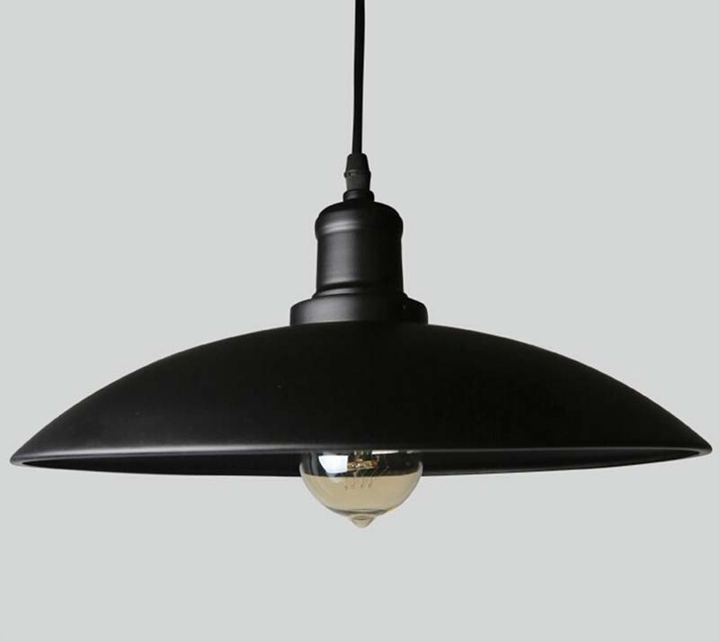 Vintage lamp pendant lights fixtures hanging lamp industrial light retro kitchen lamp iron black lampshade HM20