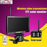 Precio Cámara de visión trasera inalámbrica Monitor TFT de 7 pulgadas con visión nocturna Kits de cámaras