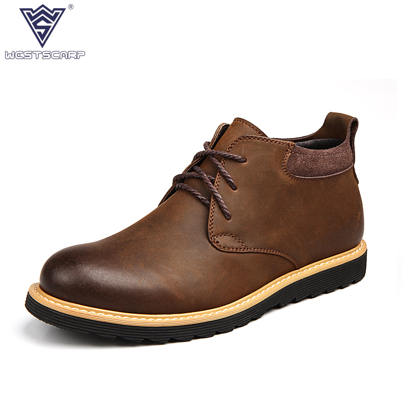 Split Leather Men Shoes Handmade Super Warm Men Winter Shoes High Quality Ankle Boots for Autumn Winter Shoes Men Size 39-44 mulinsen latest lifestyle 2017 autumn winter men