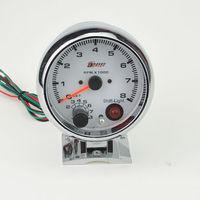 3 75 Car Rev Counter Tacho Tachometer Pointer Gauge Meter 0 8000 RPM Colorful Lights Free