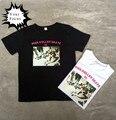 2016 Корейский ulzzang harajuku панк-рок хип-хоп молнии розовый роликовых коньках 01 письма печатаются футболка хлопок свободные женщины топы