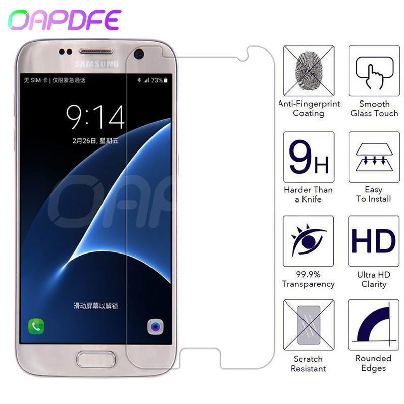 Tempered Glass On The For Samsung Galaxy S7 S6 S5 S4 S3 Mini Note 5 4 3 Screen Protector 9H Anti-Burst Protective Film Glass