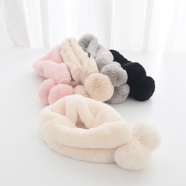 Новые зимние кольцо шарф Имитация меха кролика мягкой и гладкой кольцо шарф теплый родитель-ребенок Семейные шарфы Модные 5 цветов HO835712