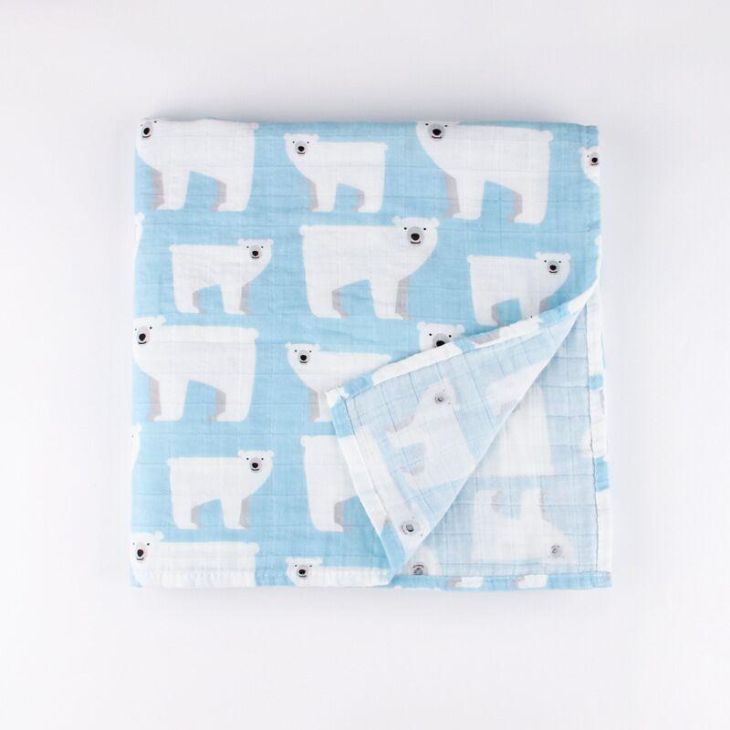 Baby Wrap cotton muslin baby blanket,Multifunctional Muslin Baby Newborns Blanket Baby Swaddle Blanket 120*120cm