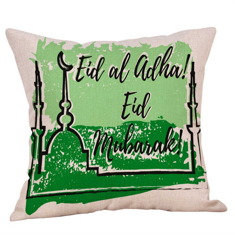 Image 5 - Eid Al Fitr Line Pillowcases Cover Super soft fabric Home  Letter Pattern Cushion Throw Bedding Pillow Case Pillow Covers-in Pillow Case from Home & Garden