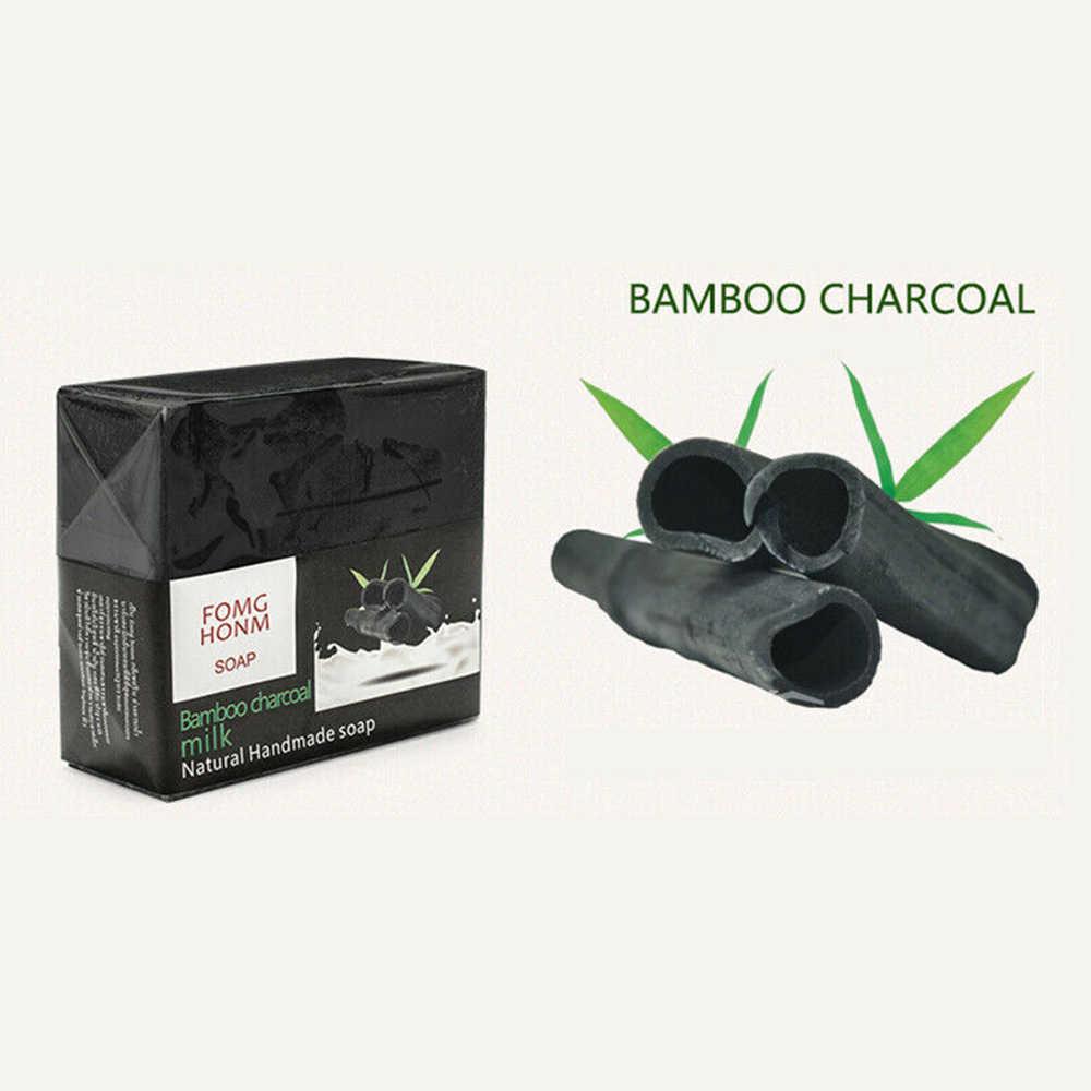 100g Thai jabón de limpieza facial exfoliante Natural Rosa bambú carbón jabón hidratante blanqueador cuidado de la piel jabón de baño TSLM1