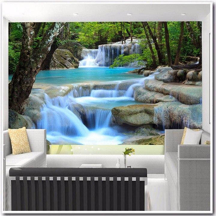 417cfdf354 ᗜ LjഃPersonalizado 3D foto papel pintado 3D no tejido flor TV sofá ...