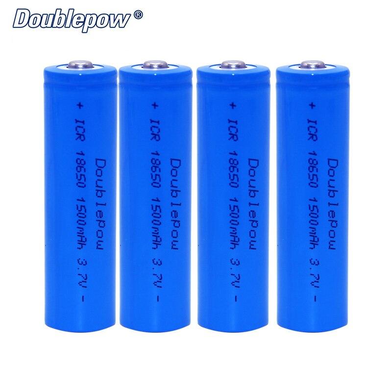 4 pçs/lote FRETE GRÁTIS Venda Quente Doublepow DP-18650 1500mA 3.7 V Li-ion 18650 bateria DE ALTA CAPACIDADE recarregável PARA LANTERNA