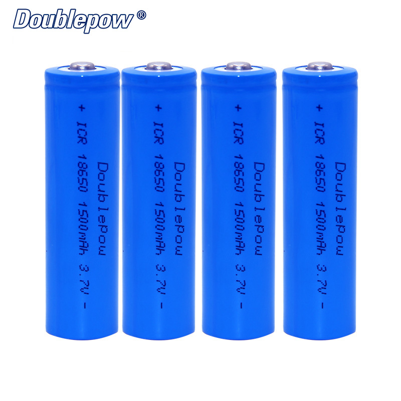 4pcs/Lot FREE SHIPPING Hot Sale Doublepow DP-18650 1500mA 3.7V Li-ion rechargeable battery 18650 HIGH CAPACITY FOR FLASHLIGHT