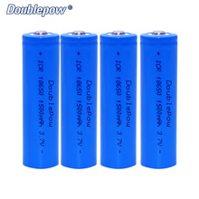Hot Sale 3.7V 18650 Li-ion Doublepow rechargeable battery in Practical Capacity 1500mAh 2pcs/lot