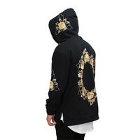 Hirigin New Men High End Casual Hoodie Men S Fashion Unique Flower Garland Street Style Long