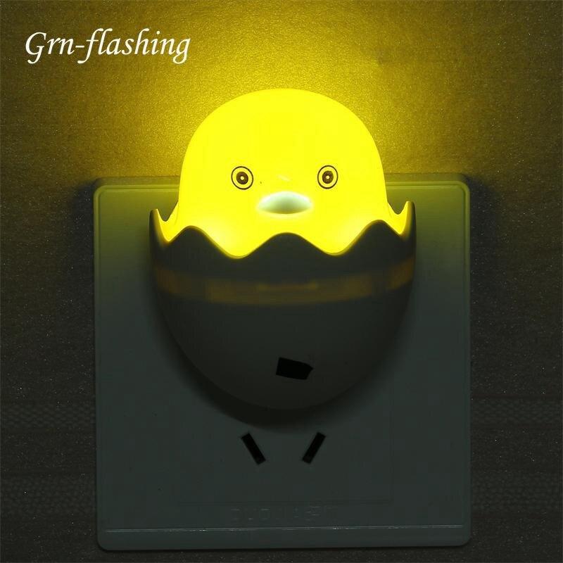 MINI Cartoon Yellow Duck LED Night Light Smart Light Control Sensor Lamp For Bedroom Living Room Bedside Light Kid Children Gift