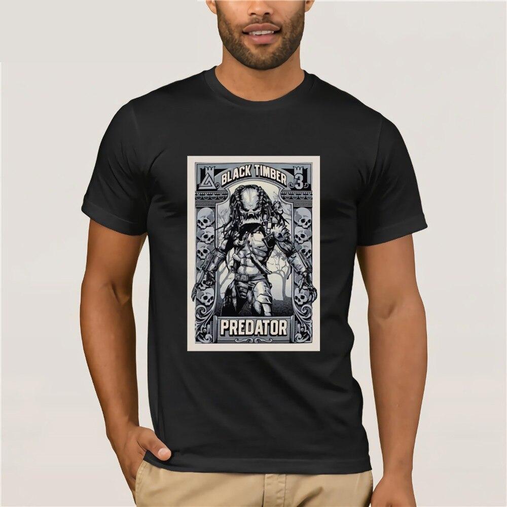 Printed Tee Shirt For Mens 2019 Alien Classic Movie Vintage Predator Best T Shirt For Men Hop T-Shirt Online Store