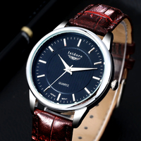 2016 Fashion Casual Men Watch New Luxury Brand High Quality Leather Waterproof Quartz Wrist Watches For