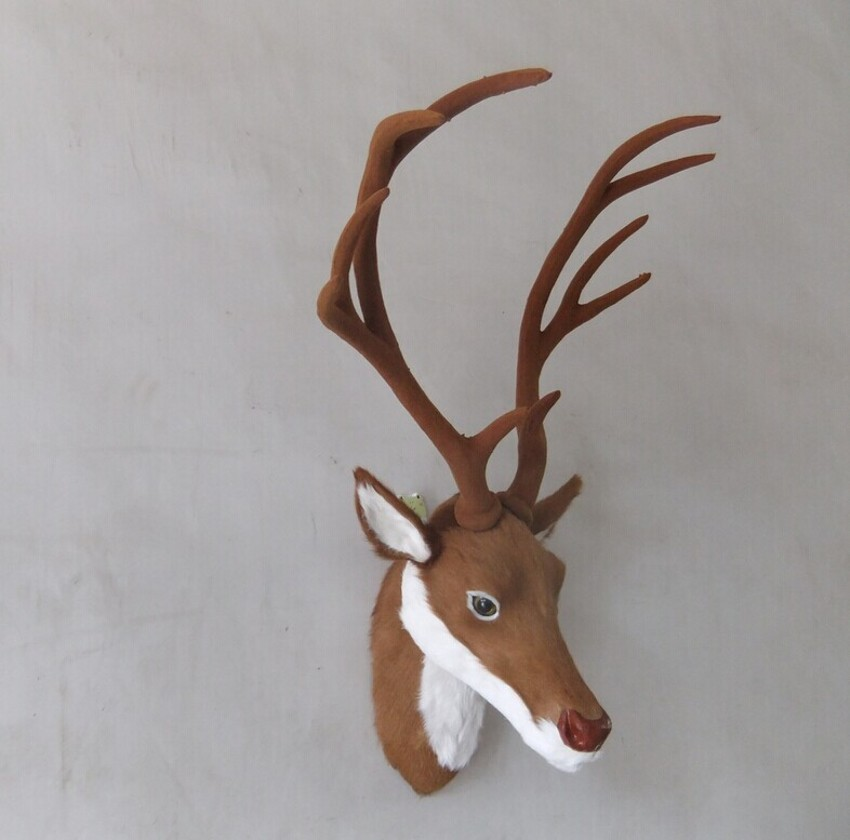 Large deer antlers simulation Christmas, New Year gift porch hanging feng shui products Imitation deer deer head pendant