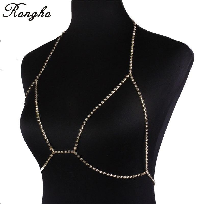 Fashion Brand Claw Crystal Bra Slave Harness Body Chain ...
