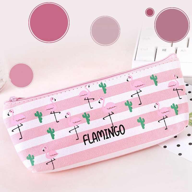Nowe płótno piórnik do artykułów piśmienniczych torba szkolne długopis pokrowiec makijaż organizator