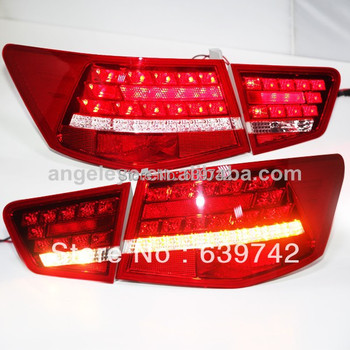 2009-2013 Year for KIA Cerato Forte 4 doors LED Tail Light  Red White Color Super Lux