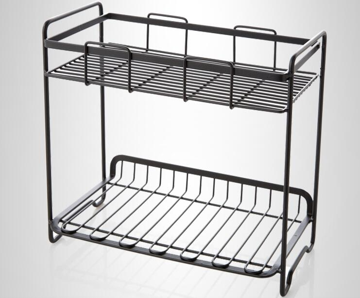 Купить с кэшбэком wrought iron spice rack, condiments kitchen have received kitchen floor shelf. Double receive a shelf