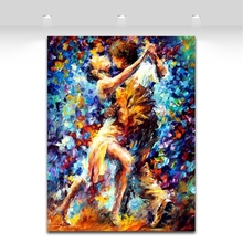 Internal Struggle Of Lust -100% Hand Painted Canvas Oil Paintings Sexy Tango Duets Wall Pictures for Living Room