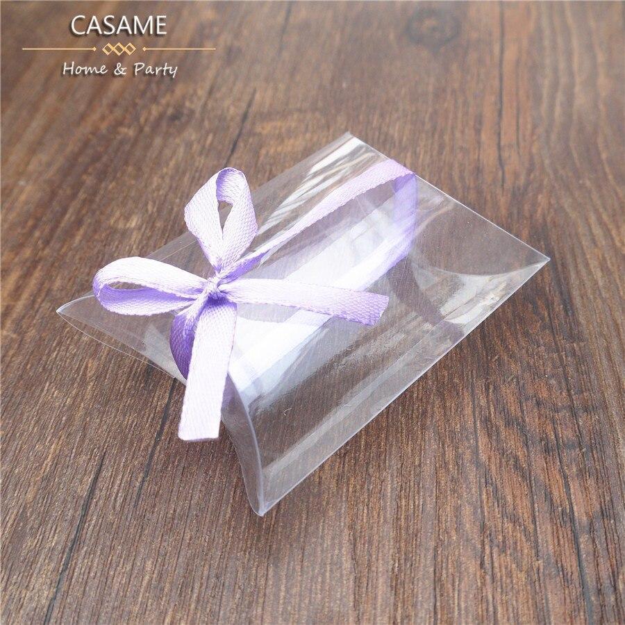 Wedding Favor Bags Plastic : /lot New Style Plastic Pillow Shape Wedding Favor Gift Box bags ...
