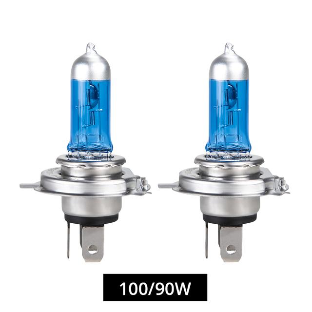 Foxcnsun 1PCS Super White Halogen Bulb H4 H7 12V 55W/60W 100W 6000K 6500K Quartz Glass Car Headlight Lamp motorcycle light lamp