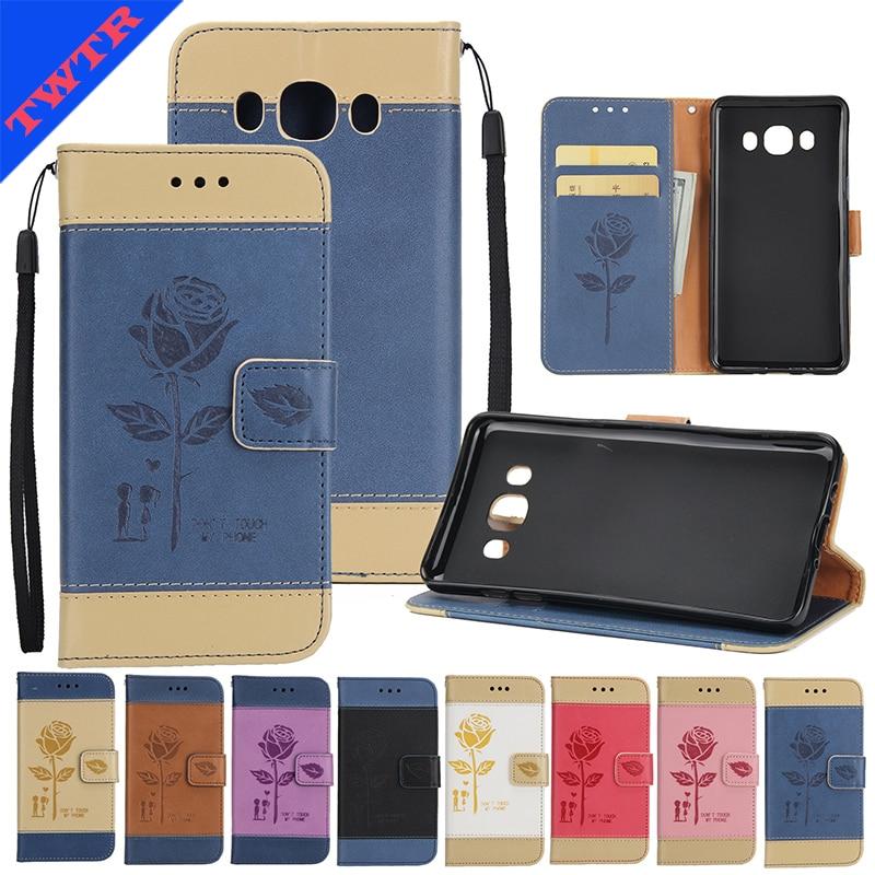 Case for Samsung Galaxy J510 j5 2016 sm-J510 embossing Case for Samsung J56 J510 J5 2016 SM-J510F J510FN Flip mobile phone bag