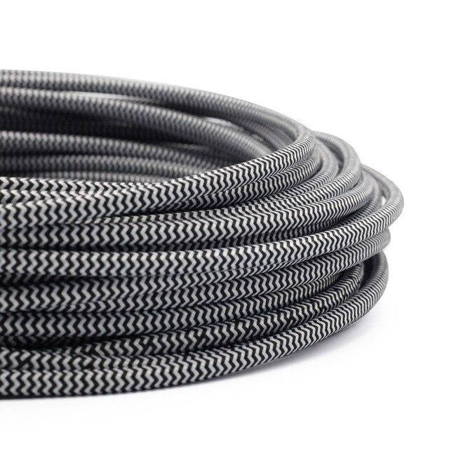 Strange 3 Meters Black White 2 0 75Mm Copper Wire Braided Electrical Wiring Digital Resources Inklcompassionincorg