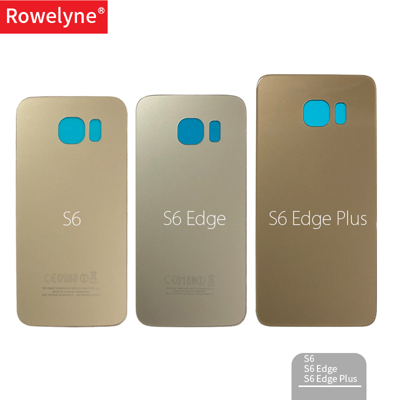 ORIGINAL Glass Cover For Samsung Galaxy S6 Back Glass G920 Battery Cover G925 G928 Housing S6 Edge S6 + S6Edge Plus