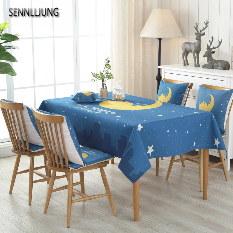 SENNLLJUNG Oilproof Tablecloth Waterproof Oilcloth Table Cloth Dining  Kitchen Table Cover Protector OILCLOTH FABRIC COVERING