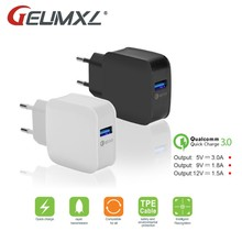 GEUMXL Quick Lading QC 3.0 18W EU Plug AC Charger voor Teclast X98 Plus II P10 T10 X10 Plus, tbook 10 S Snel Muur Chargeur(China)