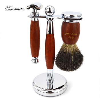 Black Pure Badger Hair Shaving Brush and Safety Razor set/kits Black Pure badger hair shaving brush double edge Safety razor set