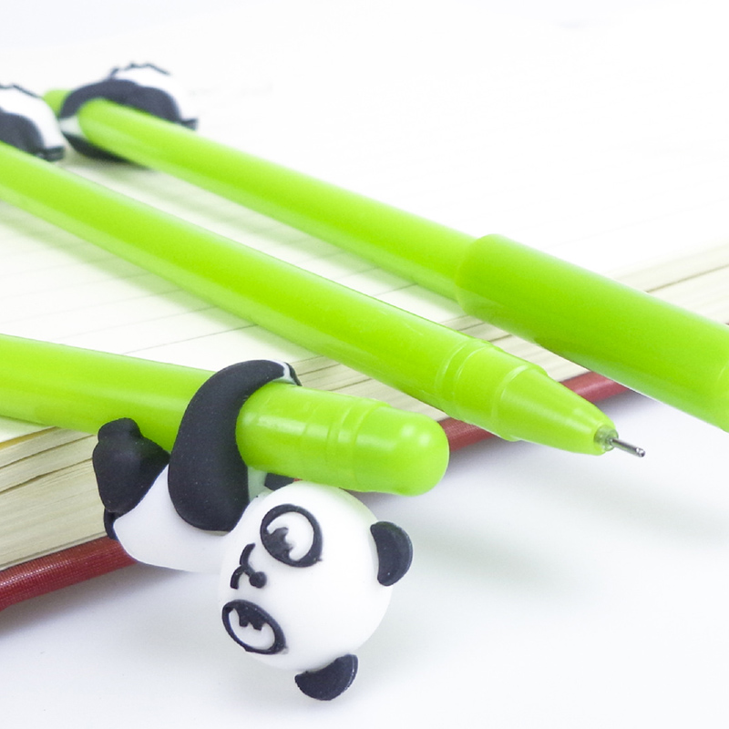 Panda Gel Pen 0.38mm Cute Bamboo Style Creative Pens For Kids Girls Gifts School Kawaii Stationery Novelty Item Writing Supplies