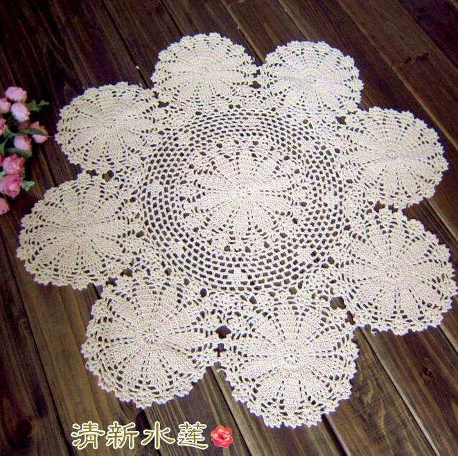 Free Shipping 2014 New Fashion Cotton Crochet Lave Small Round Table  Tablecloth Table Cover For Home Decor Towel For Table Mat In Tablecloths  From Home ...