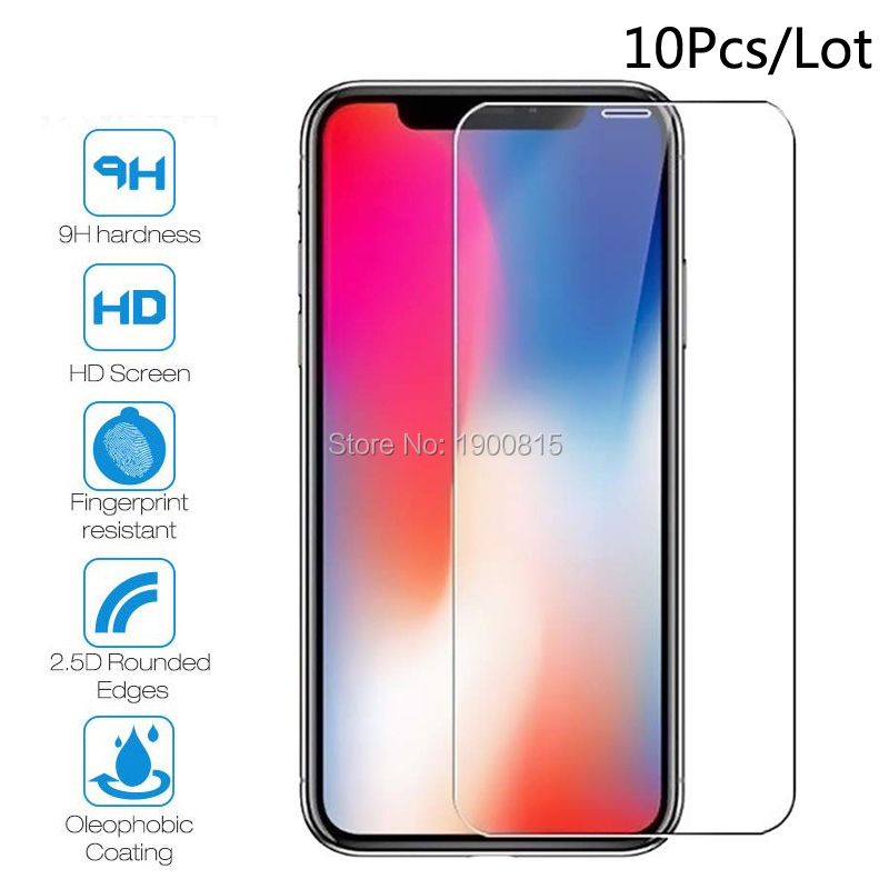 10 Pieces Tempered Glass For iPhone XR XS MAX 4 4s 5 5s SE 5c Screen Protective Film For iPhone 6 6s 7 8 Plus X Glass Protector image
