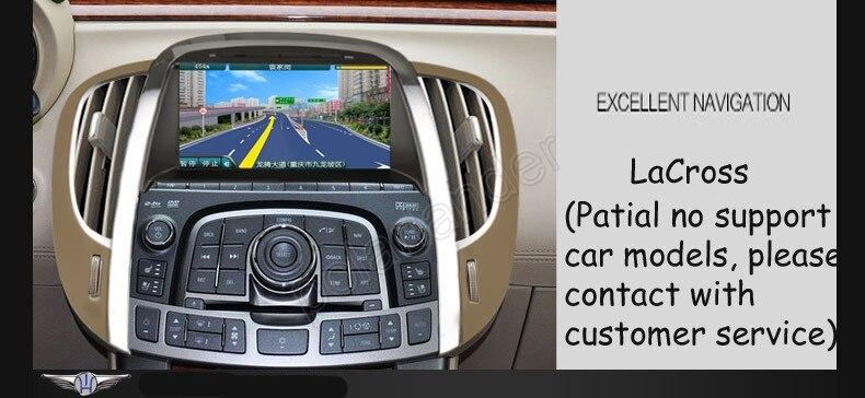 Commande de roue de dvd de voiture Double din pour Buick nouveau Regal/crosse avec GPS/Bluetooth/FM/AM/RDS/TV/DVD/IPOD/USB/SD/direction