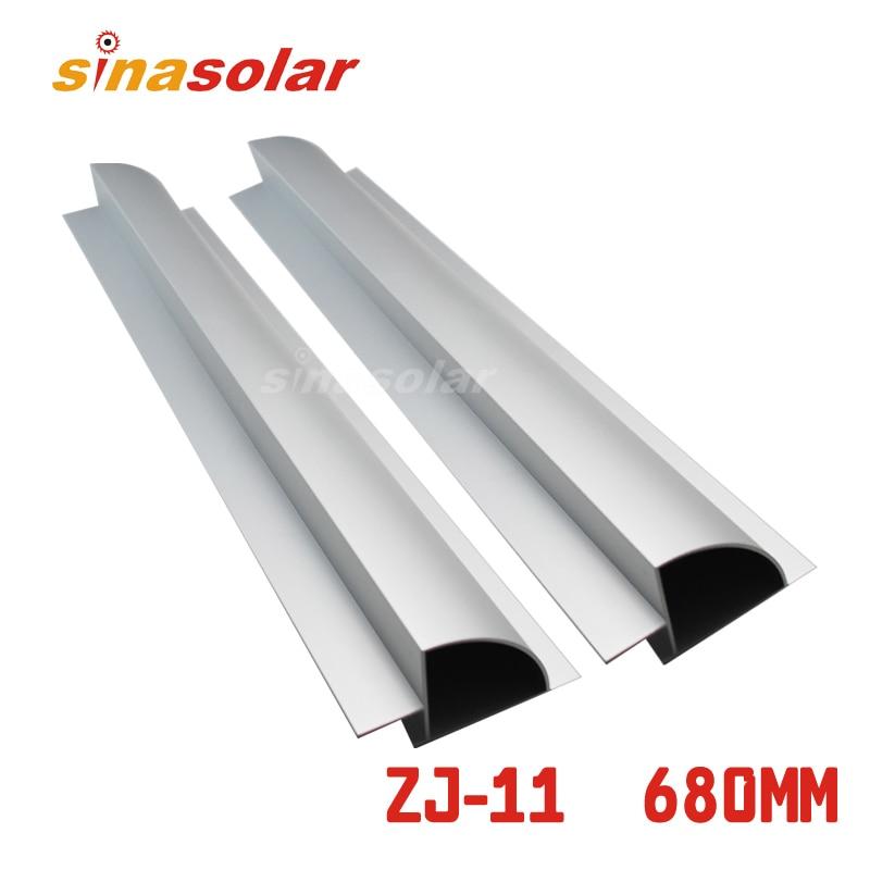 ᗔColor plata aluminio 680mm lado panel solar montaje spoiler para ...
