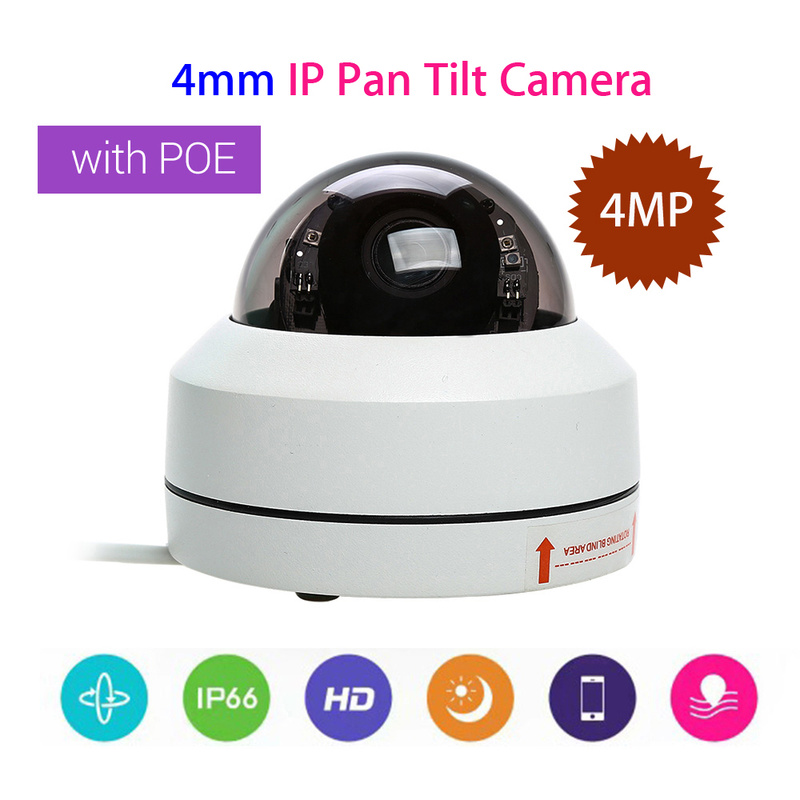 Outdoor Vandal-proof IP66 4MP IP Camera 1080P Security Camera 4mm CCTV Lens PTZ IR Onvif Speed Network PoE 355 degree Pan Tilt savvypixel 4mp network security camera indoor outdoor 1080p hd wdr network vandal proof ir mini dome camera day night