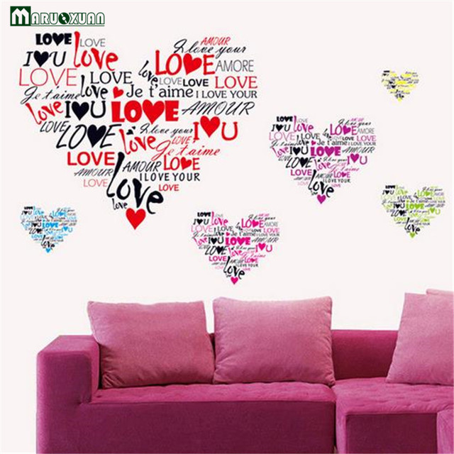 Environmentally Friendly Removable Love You Bedroom Living Room ...